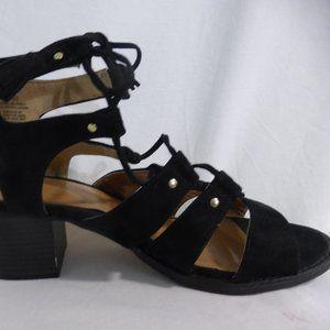 OLD NAVY black gladiator sandals, size 8 EUC